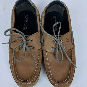 Sperry Top Sider Boy's 5 Boat Shoes Tie Dressy